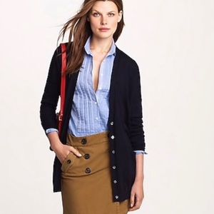 J. Crew Navy Cardigan Size Small 100% Merino Wool